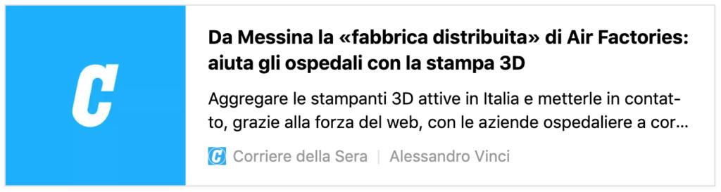 Airfactories.org - rassegna stampa - corriere.it